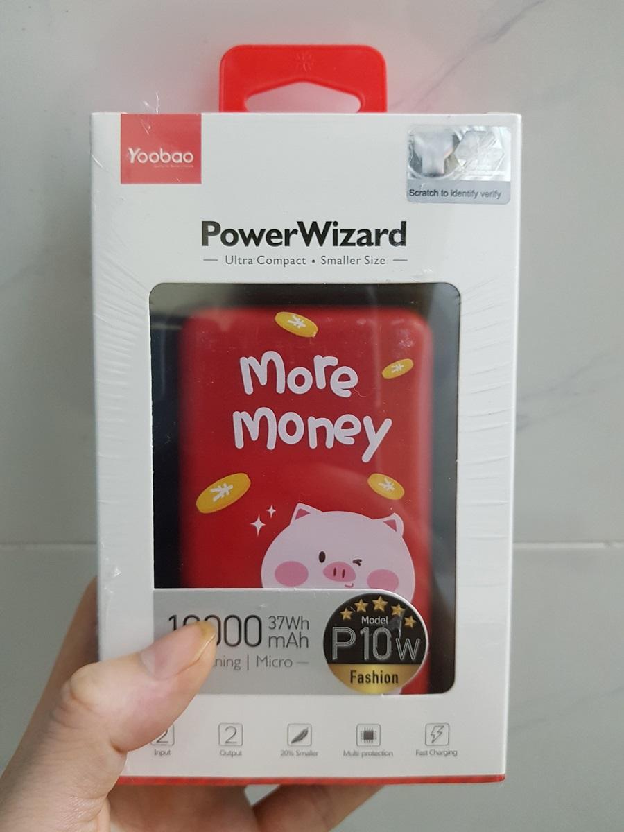 Sạc dự phòng mini Yoobao P10W 10000mAh