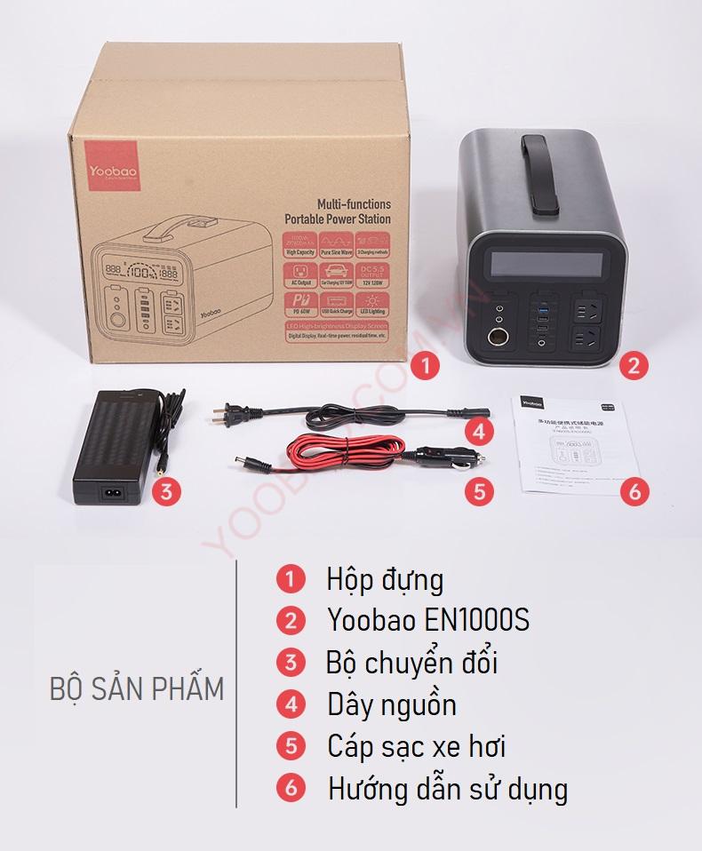 Trạm sạc dự phòng Yoobao EN1000S 297600mAh PD60W 220V/1000W