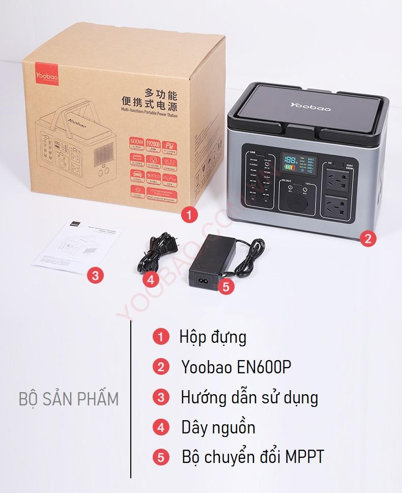 Trạm sạc dự phòng Yoobao EN600P 192000mAh PD100W 220V/600W