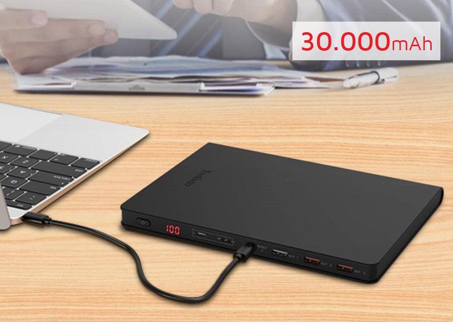Sạc dự phòng Yoobao 30Book 30000mAh PD3.0