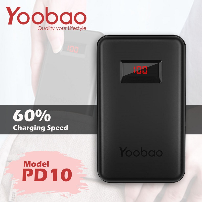 Sạc dự phòng Yoobao PD10 10000mAh PD3.0