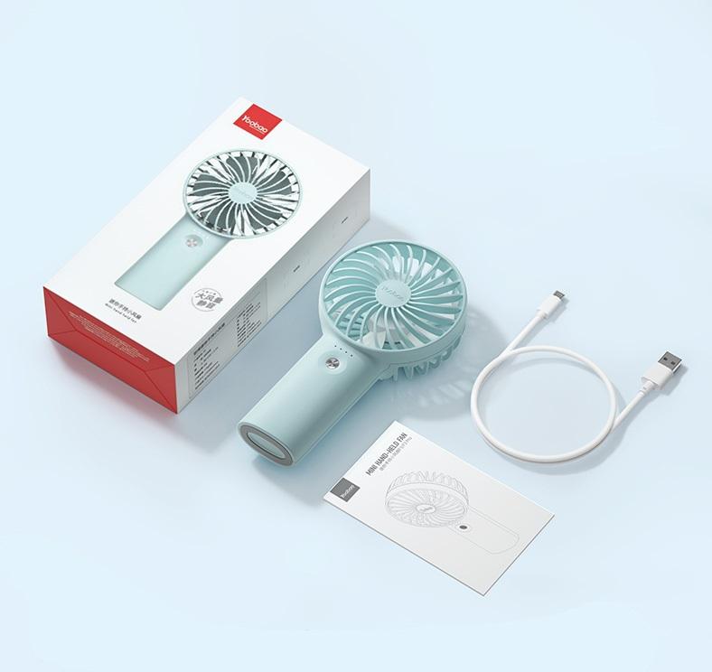 Quạt tích điện mini cầm tay Yoobao F3 6000mAh chính hãng