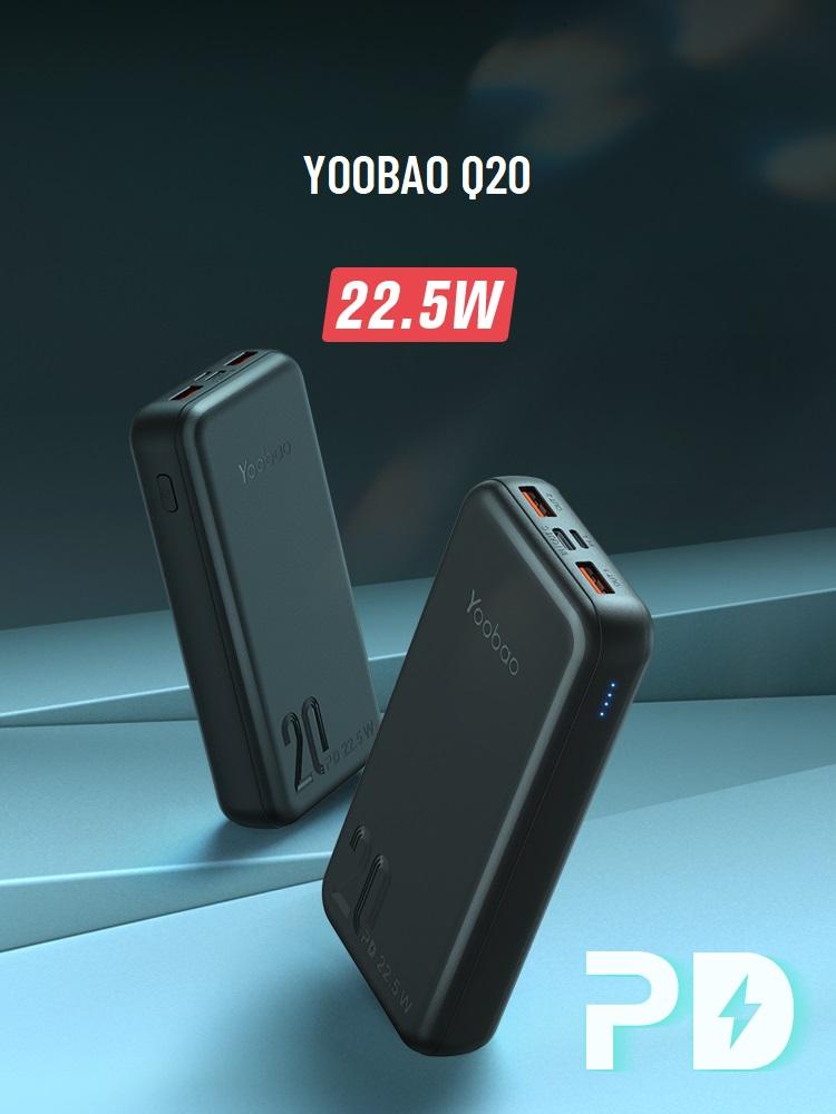Sạc dự phòng Yoobao Q20 20000mAh PD3.0