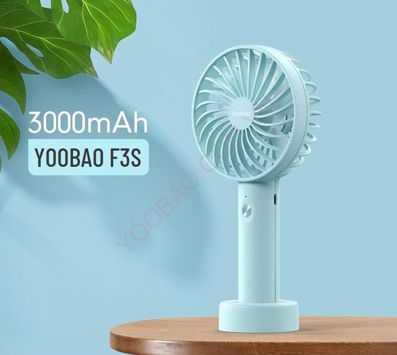 Quạt tích điện mini Yoobao F3S 3000mAh chính hãng