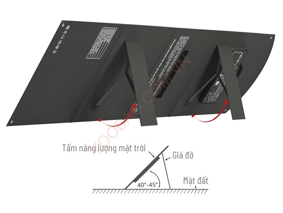 Tấm pin năng lượng mặt trời Mono 100W có thể gấp gọn